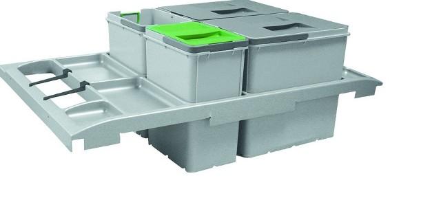 Sortownik Trolley Vario 90Pojemnik do sortowania czterech rodzajów odpadów