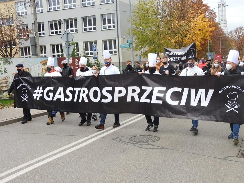 Protest przedsiębiorców branży gastronomicznej Białystok