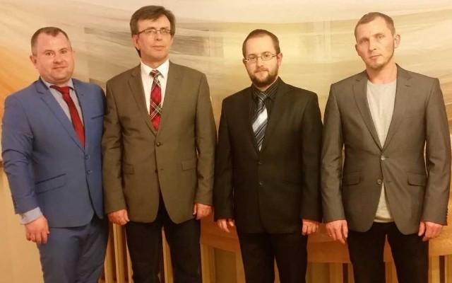 1 grudnia wybrano nowy Zarząd Komitetu Prawa i Sprawiedliwości we Włoszczowie: (od lewej) Łukasz Karpiński, Dariusz Czechowski, Rafał Pacanowski i Karol Chrzanowski.