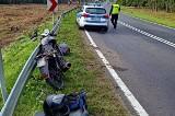 Kierowca bmw najechał na motorowerzystę. Niewiele widział z powodu zaszronionej szyby