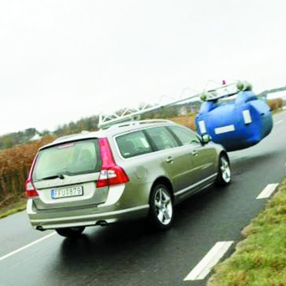 Volvo podczas testów