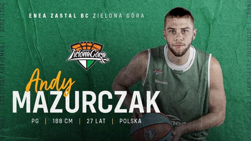 Andy Mazurczak, nowy koszykarz Enei Zastalu BC Zielona Góra.