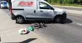 Wypadek na ul. Gdańskiej. Rowerzysta pod kołami auta