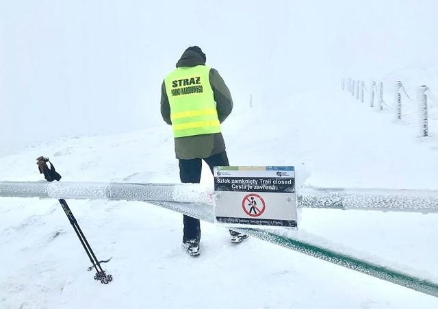 Zamknięto Drogę Jubileuszową pod Śnieżką