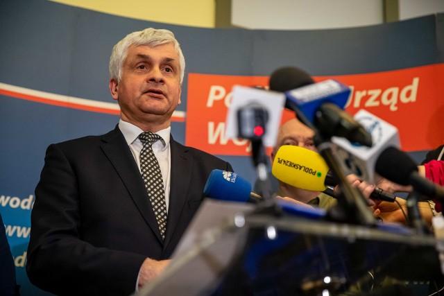 W środę (11.03) wojewoda podlaski Bohdan Paszkowski zwołał konferencję prasową ws. koronawirusa.