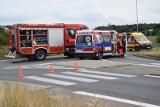 Motocyklista zginął w wypadku na obwodnicy Kędzierzyna-Koźla i Reńskiej Wsi na rondzie przy stacji paliw Orlen