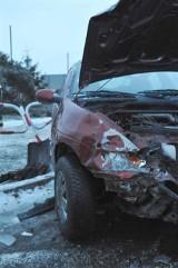 Wypadek w Kościanie: Jedna osoba ranna na obwodnicy [ZDJĘCIA]