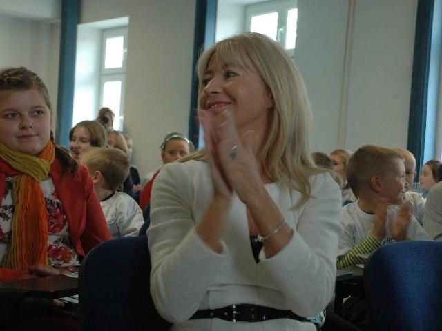 Anna Maria Wesołowska - znany sędzia orzekająca w sprawach karnych spotkała się w sobotę z małymi studentami uniwersytetu Unikids