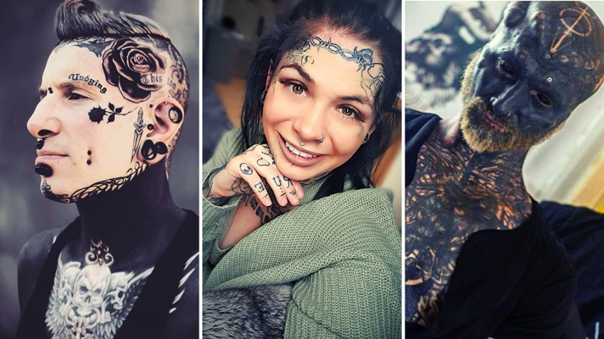 Tatuaże na twarzy wciąż szokują. Choć dla wielu z nas taka ozdoba to przesada, nie brakuje osób, które chętnie się w ten sposób przyozdabiają - zobaczcie w naszej galerii! A wy co sądzicie o tatuażach na twarzy? Wyjątkowa ozdoba czy o jeden tatuaż za daleko?