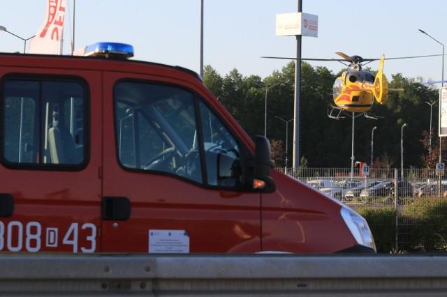 Wypadek na al. Jana III Sobieskiego we Wrocławiu. Zdjęcie ilustracyjne