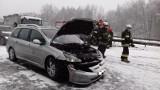Wypadek na autostradzie A4 w Zabrzu. Ogromne utrudnienia. Zderzyło się 6 samochodów ZDJĘCIA
