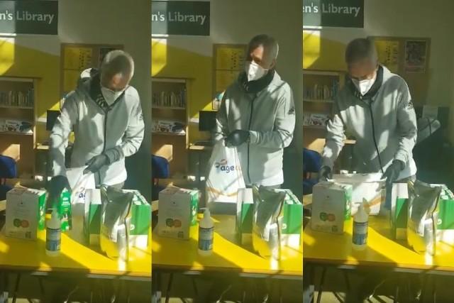 Jose Mourinho pomagał starszym osobom w obliczu koronawirusa