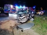 Nocny wypadek w Konstantynowie Łódzkim. Zderzyły się dwa ople