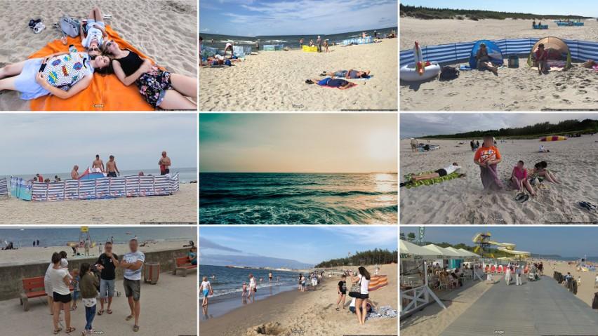 Pomorskie plaże w obiektywie Google Street View. Urlopowicze...