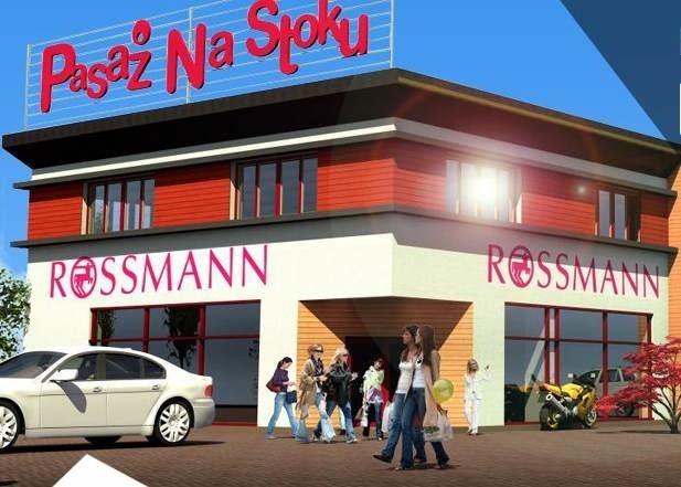 Tak wygląda na wizualizacji pasaż handlowy, w którym między innymi będzie się mieścił kolejny w Kielcach salon sieci Rossmann. Fot. spółka Pasaż Na Stoku