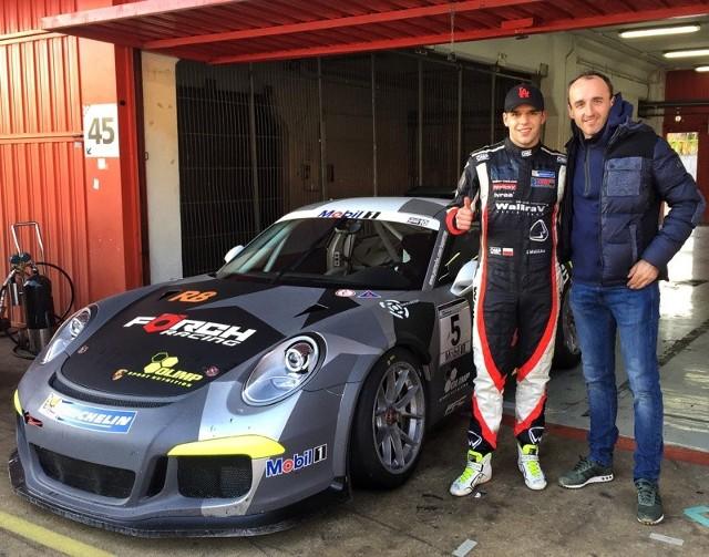 Igor wraz z Robertem Kubicą, podczas grudniowej sesji treningowej na Circuit de Barcelona-Catalunya