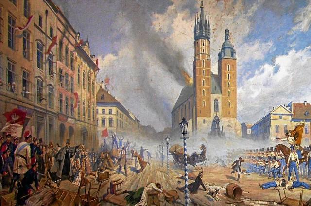 Zygmunt Wierciak, Rynek krakowski 26 kwietnia 1848 r.