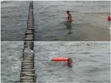 Ratownik wchodzi do wody i znika. Zobacz, jak łatwo można utonąć (WIDEO)