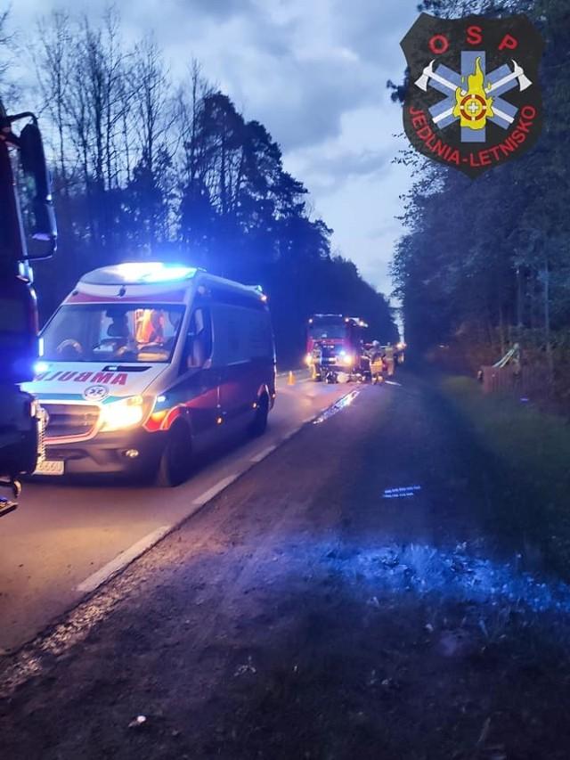 Sobotni wypadek motocyklisty miał miejsce na drodze w Siczkach pod Radomiem.