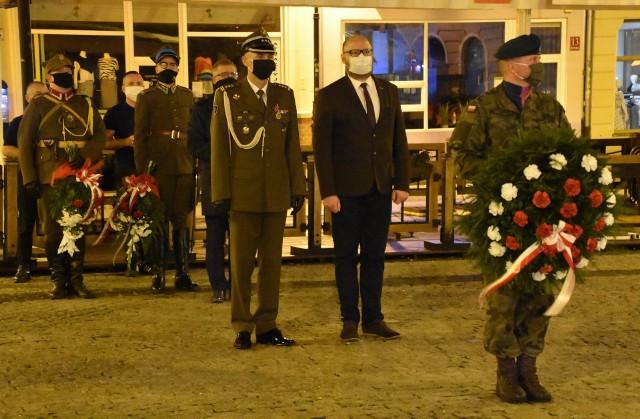 Uroczystość na Rynku w Grudziądzu w 81. rocznicę wybuchu II wojny światowej