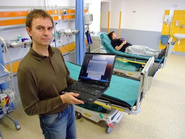 Sieć będzie służyć pacjentom i lekarzom - mówi Norbert Polok, główny informatyk w szpitalu.