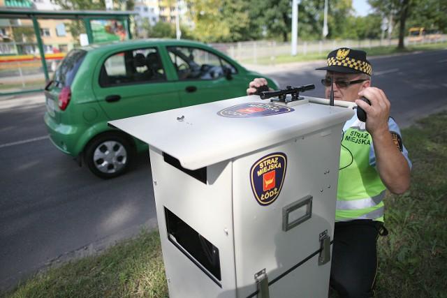 Strażnicy miejscy z Łodzi mają jeden przenośny fotoradar