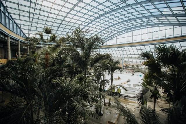 PARK OF POLAND to największy wodny park rozrywki w Europie. Powstaje w Mszczonowie  - między Łodzią i Warszawą. Okazuje się, że jeszcze w tym roku pierwsi goście będą mogli skorzystać z Suntago, czyli wodnej części parku rozrywki - Park of Poland.Prezentujemy zdjęcia z Park of Poland, które zostały wykonane pod koniec października. Gotowa jest już m.in. mozaika nawiązująca do słynnej starożytnej świątyni z Kambodży (do Angkor Wat), która znajduje się przy wejściu. Zamontowano również najdłuższą w Europie zjeżdżalnię, która ma aż 320 metrów!Zobacz zdjęcia na kolejnych slajdach