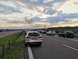Pożar ciężarówki na autostradzie A1 między węzłem Grudziądz i Nowe Marzy  [zdjęcia]