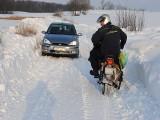 Oj, zawiało drogi w gminie Koronowo