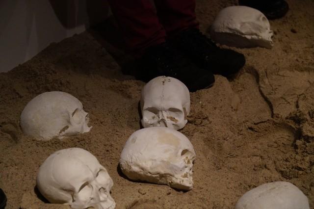 Artystyczna instalacja prof. Piotra Szwieca z Uniwersytetu Artystycznego w Poznaniu składa się z kilkudziesięciu betonowych ludzkich czaszek, zatopionych w czterech tonach piasku. Dla zwiedzających będzie dostępna do końca roku.Kolejne zdjęcie --->