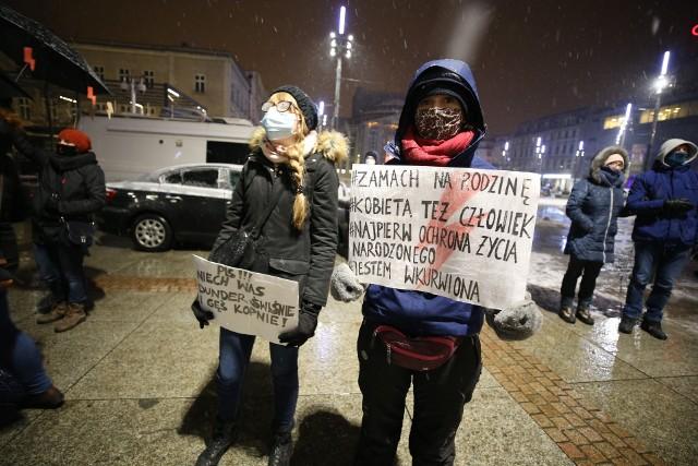 Strajk Kobiet w Katowicach, 25.1.2021