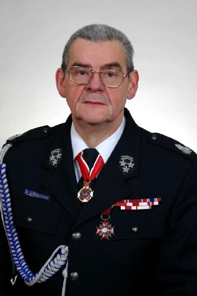 Michał Kowalewski od 1960 r. jest strażakiem, a od 1970 r. także naczelnikiem OSP w Skwierzynie.