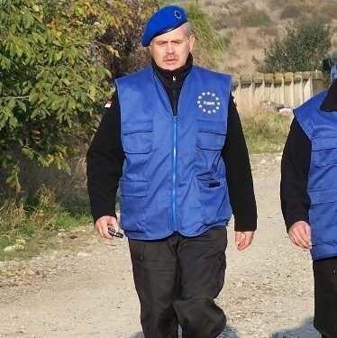 Major Andrzej Łydka jest jednym z unijnych obserwatorów na misji w Gruzji.