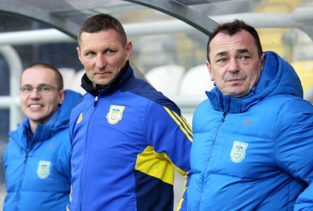 Trener Grzegorz Niciński może czuć się zadowolony z pracy swojej i piłkarzy gdyńskiej Arki
