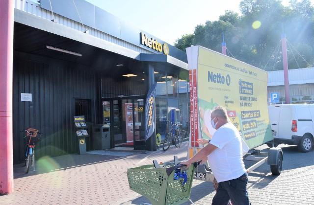 """Nowy supermarket """"Netto"""" przy ul. Laubitza 3. To już trzecia placówka tej duńskiej sieci handlowej w Inowrocławiu"""