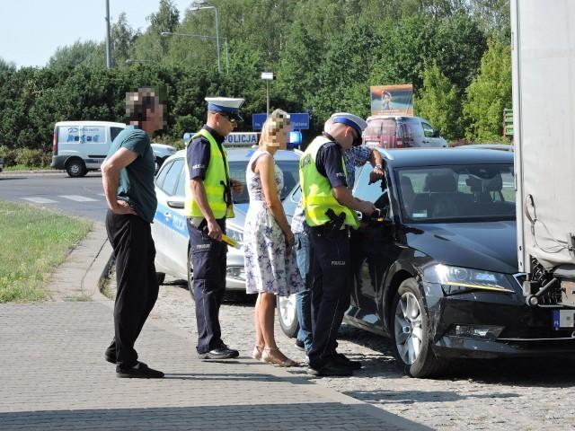 Ostrołęka. Kolizja przy rondzie Bohaterów Westerplatte, 28.08.2019