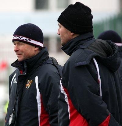 Trener Piotr Rzepka i Mariusz Gnoiński nie prowadzili zajęć.