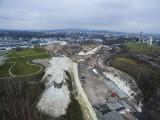 Budowa Trasy Łagiewnickiej w Krakowie robi ogromne wrażenie [ZDJĘCIA Z DRONA]