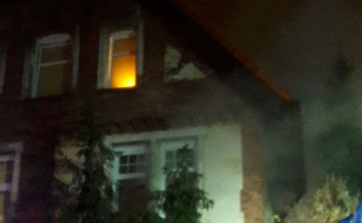 Pożar w Gdańsku Wrzeszczu 8.12.2019