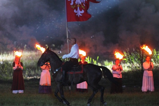 """Tak wyglądało przedstawienie """"Orzeł i Krzyż"""" w ubiegłym roku. Wtedy obejrzał je nawet prezydent Andrzej Duda."""