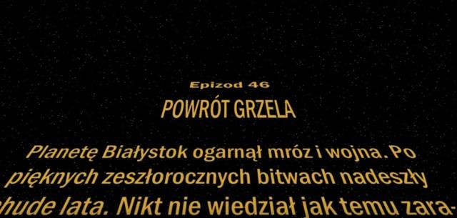 Gwiezdne Wojny - Powrót Grzela czyli relacja wideo ze spotkania Jagiellonia Białystok - Cracovia Kraków w konwencji Star Wars
