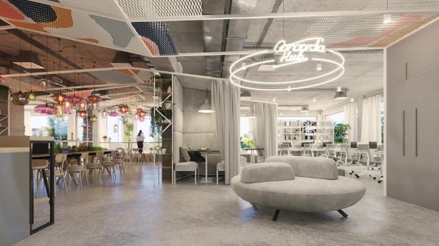 Concordia Hub na wyspie Słodowej nabiera kształtów. Budynek ma mieć wiele funkcji, ale przede wszystkim jest przedsięwzięciem komercyjnym, które ma na siebie zarabiać. We wtorek przedstawiciele inwestora i wykonawcy oprowadzali po budowie