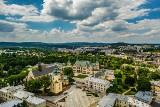 Kielce na zdjęciach z drona. Z tej perspektywy miasto wygląda oszałamiająco [ZDJĘCIA]