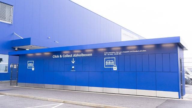 Tak wyglądają automaty paczkowe przy sklepach Ikea w innych krajach.