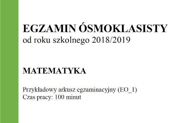 Egzamin ósmoklasisty 20182019 Cke Matematyka Arkusze