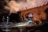 Spaliła się stodoła z kombajnem