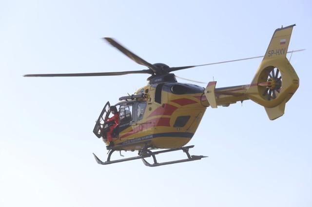 Dziewczynka została przetransportowana do szpitala w Lublinie śmigłowcem LPR
