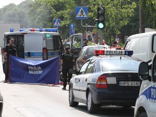 63-letni rowerzysta zginął w piątek na skrzyżowaniu ulic Zagórskiej i Źródłowej w Kielcach.