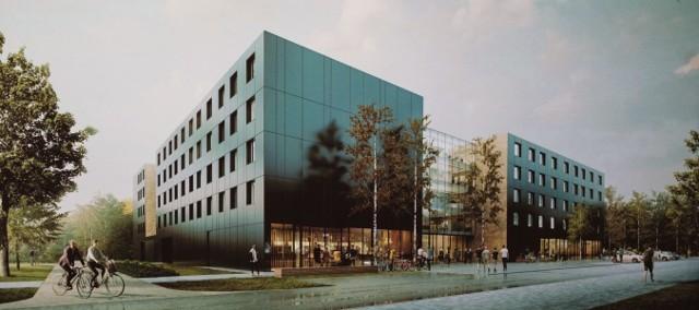 Rozpoczęto prace nad budową nowego akademika na kampusie UAM Morasko.Zobacz wizualizacje-->