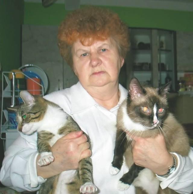 Zofię Urban nazywają kocią mamą